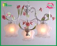 Rose Flower Garden Lighting Freeshipping Fashion Modern Wrought Iron Chandeliers Lights Ceiling Lamp Bedroom Livingroom