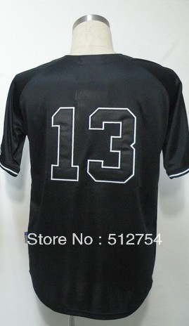 Free Shipping #13 Alex Rodriguez Men&#39;s Baseball Jersey,Embroidery and Sewing Logos,size M--3XL,Accpet Mix Order(China (Mainland))