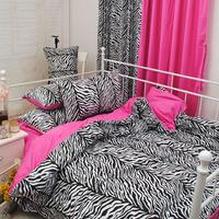 100% cotton zebra print bedding bed   four pieces per set