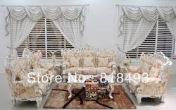 office furniture waiting sofa set solid wooden high quality fabric(China (Mainland))