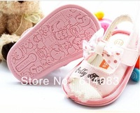 Free shipping wholesale 2013 fashion charming&fatanstic pink cute bb girls sandals style prewalkers/infant shoes/Baby shoes