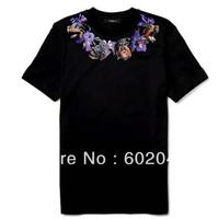 Free shipping new GIV men' short sleeve T-shirt necklace 100% cotton T-shirt