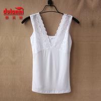 2013 spring lace decoration women's spaghetti strap top vest basic shirt V-neck