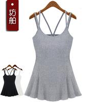 Vest female basic spaghetti strap 100% cotton slim spaghetti strap top basic y 2013 spring vest spaghetti strap