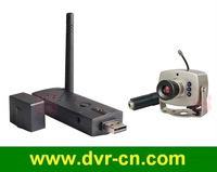 2.4GHZ Wireless Mini CCTV Camera With IR Night vision, With USB wireless AV Receiver kit,with MIC