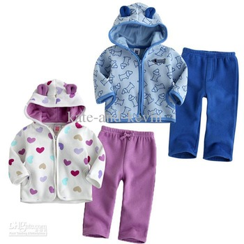 retail Free Shipment Fashion Kid's Suits Outer Coat +Pants 5 colors available s baby