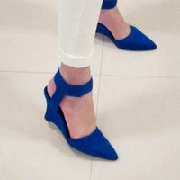 Free shipping wholesale 2013 fashion female shoes retro  high heels wedges toe cap covering sandals 3 colors