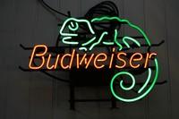 Budweiser beer neon vintage gecko lizard sign Free Shipping 17*13