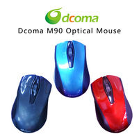 Dcoma m90 wired usb quieten notebook mouse new arrival mouse pad