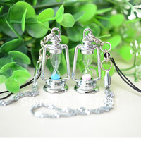 Hourglass mobile phone chain lovers mobile phone chain mobile phone pendant birthday day gift  free shipping