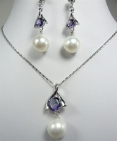 South Seas sallei pearl 12mm white shell pearl set gift belt chain 27