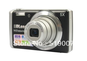 2012New  14MP CCD 5x optical zoom 5X digital zoom Anti-shake,good cheap camera  Face detection DC-T500
