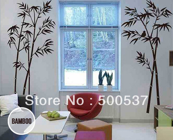 20pcs per lot 60 by 90cm Mixed Ordered Free Shipping Black Bamboo TreesHouse Decoration Removable Decor Wall Stickers Vinyl