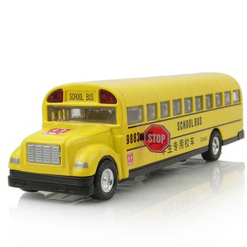 free shipping, Alloy toy, car school bus long bread bus school bus car model acoustooptical WARRIOR