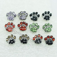 (Min.$10-can mix styles)crystal rhinestone cat dog paw print post  stud fashion earring animal jewelry earrings free shipping