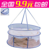 Overstretches high quality clothing blue clothing net bag laundry basket clothing net laundry basket double layer big