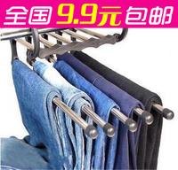 Magic magic retractable hanger stainless steel multifunctional hanging pants rack metal multi-layer rack