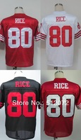 #80 Jerry Rice Men's Authentic 1989 Team Red Throwback Football Jersey