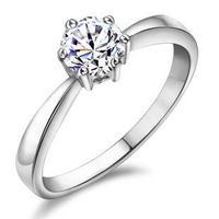 Ladies rings Wedding ring 0.8Carat   sterling s925 silver wedding rings for womenFRlEESHIPPING