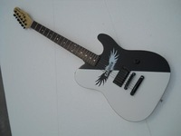 Free Shipping Hot Selling Perfect F Custom Telecaster Black & White Electric Guitar