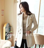 2012 autumn and winter new arrival slim quality wool coat female medium-long thickening wool woolen outerwear autumn and winter