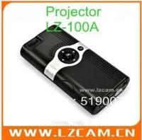 Fashion Mini  Digital Projector for iPhone ipad ipod SD AV IN ,free shipping LZ-100A