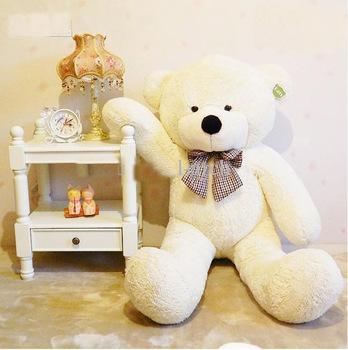 "free shipping 6 FEET TEDDY BEAR STUFFED LIGHT BROWN GIANT JUMBO 71"" size:180cm"
