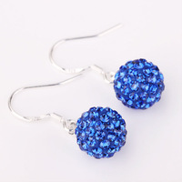 Shambala Balls Beads Eearrings Shambhala Rhinestone Crystal Fashion Jewelry Shamballa Earring SE030
