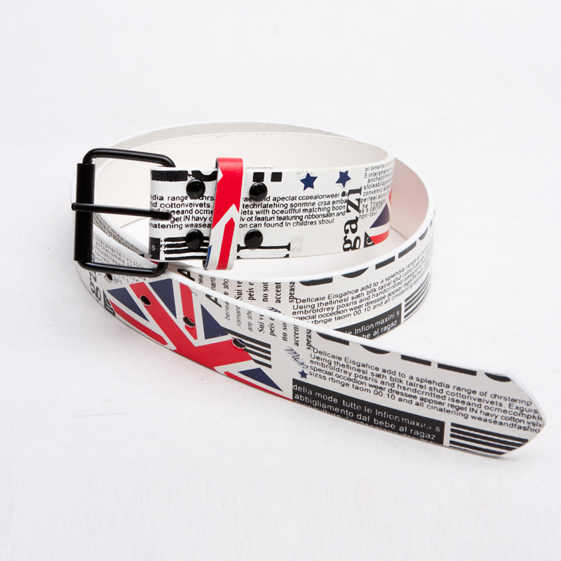 2012 trend multicolour print personality trend of the belt strap m word flag multicolor(China (Mainland))