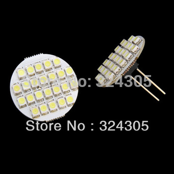 10 x G4 24SMD high power 1210 Cabinet Marine Boat car LED Light RV Landscaping Bulb Puck Disc Light Module DC12VwhiteWarm White