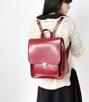 2013 preppy style vintage  lockbutton messenger bag leather book  fashion women's