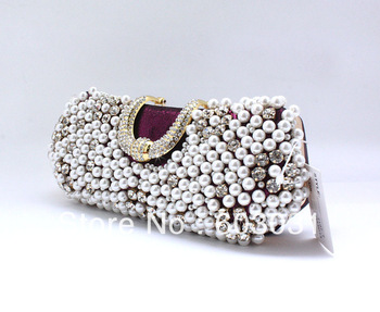 2013 hot selling NEW Arriving wholesale Knuckle Rings Rhin diamond estone Fingers Clutch shoulder Chain party  woman bags 0229