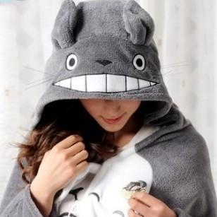 New 150*70! My Neighbor Totoro Lovely Plush Soft Cloak, 1pc