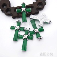 Diy accessories malay jade pendant cross , accessories m0004