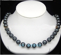 South Seas 10mm black shell pearl necklace birthday gift
