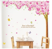 CPA FREE-new arrival large size modern home wall decal blooming cherry tree sticker diy wall paster 60by90cm 2pcs