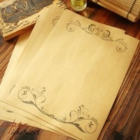 Free Shipping European Retro Lace Kraft paper The letter Paper Writing Paper.