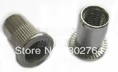 6mm*25pcs Flat stainless steel Rivet Nut Rivnut Insert Nutsert blind nut fastener