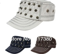 NEW 2013 Mix Colors COOL Skeleton Flat Army Cap Lady Sports Caps Ladies Visors Military Hat Winter Mens Hats Womens Headwear S34