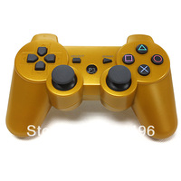 BLUETOOTH 6 AXIS WIRELESS  CONTROLLER for PS III  -GOLDEN COLOR FREE SHIPPING COST