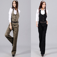 Women's 2013 spring and autumn jumpsuit casual trousers bib pants