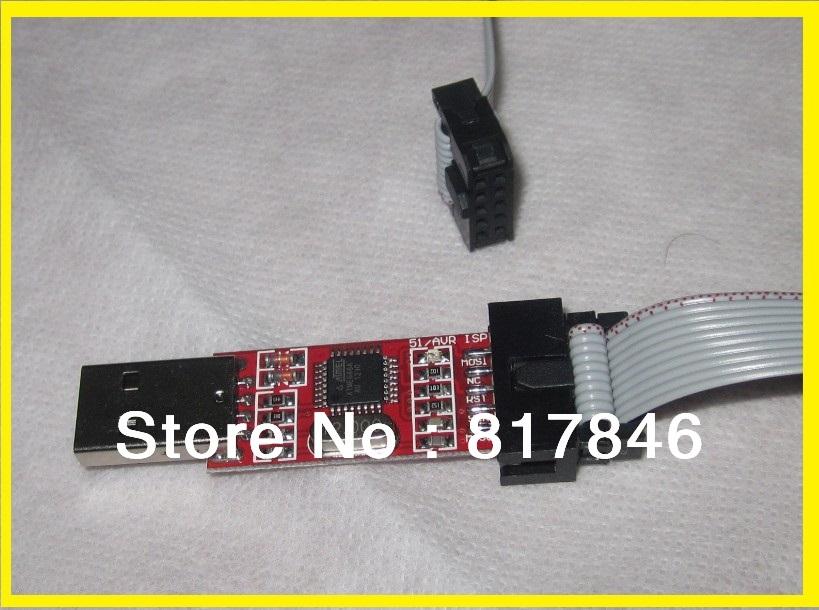 freeshipping 51 Board ISP Downloader AVR Programmer/51 AVR /USB ISP Programmer for ATMEL / 51 AVR for ATMega ATTiny(China (Mainland))