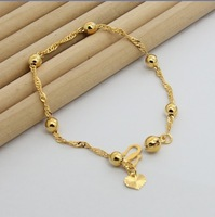 18K Bracelet - B27 / 18 K gold for Womens charm bracelet yellow gold chains wholesale jewelry for wjomen