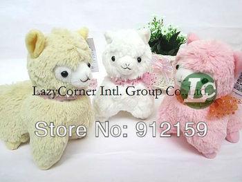 Wholesale Japanese Arpakasso amuse Genuine Sheep plush Toy 3 colors 18cm high Doll 20pcs/Lot  Free Shipping