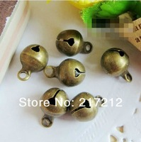 250PCS 8mm Small Bell Vintage Antique Bronze Plated Alloy DIY Jewelry Making Pendants