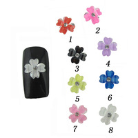 Nail art supplies false nail decoration resin flower finger applique accessories nail art drill nail art applique