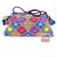 National embroidery bags hot fixed shoulder bag messenger bag fashion women's handbag