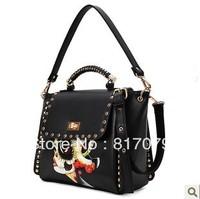 2013 bag national trend rivet a30 briefcase shoulder bag handbag women's handbag bag