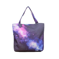 FREE SHIPPING GZ Weger Clothing 60015 Women/Man Galaxy Starry Canvas Handbag Computer LAPTOP Ipad Shoulder Bag Recycle