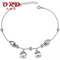 Ord s925 pure silver jewelry tassel fashion anklets lifetime lovers gift